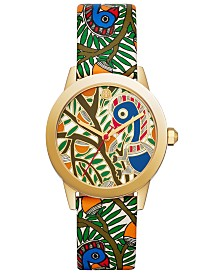Tory Burch Women's Gigi Multicolor Leather Strap Watch 36mm