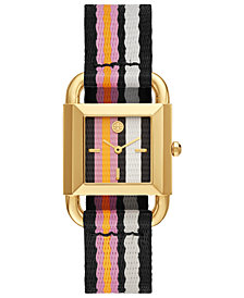 Tory Burch Women's Phipps Multicolor Grosgrain Strap Watch 29mm