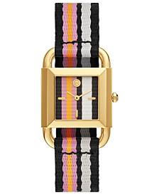 Tory Burch Women's Phipps Multicolor Grosgrain Strap Watch 29mm