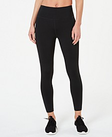 Mesh-Inset Ankle Leggings