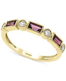 EFFY® Rhodolite Garnet (1/2 ct. t.w.) & Diamond (1/8 ct. t.w.) Ring in 14k Gold