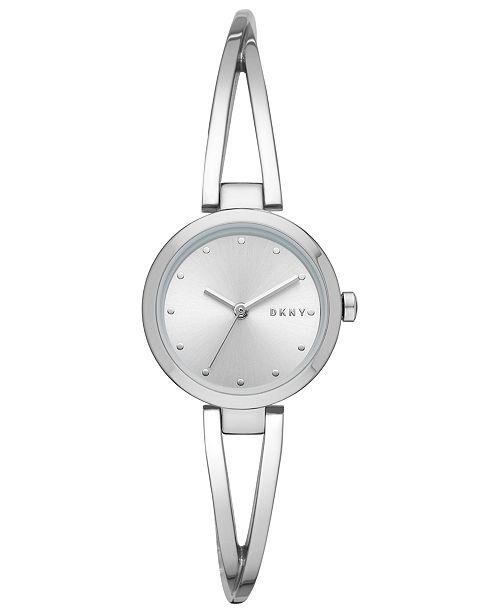 DKNY Women's Crosswalk Stainless Steel Bangle Bracelet Watch 26mm