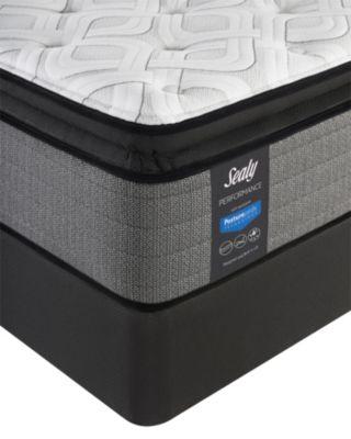 "Posturepedic Plus Shore Drive LTD 14"" Cushion Firm Euro Pillow Top Mattress Set- Twin"