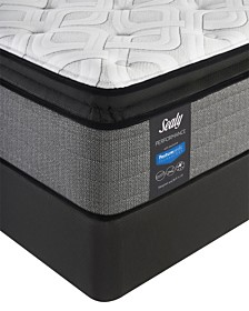 "Sealy Posturepedic Plus Shore Drive LTD 14"" Cushion Firm Euro Pillow Top Mattress Set- Twin"