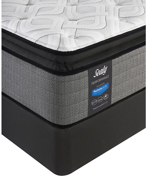 "Sealy Posturepedic Plus Shore Drive LTD 14"" Cushion Firm Euro Pillow Top Mattress Set- Twin XL"