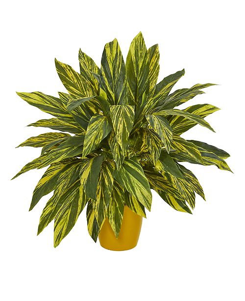 Nearly Natural Tradescantia Artificial Plant in Yellow Planter