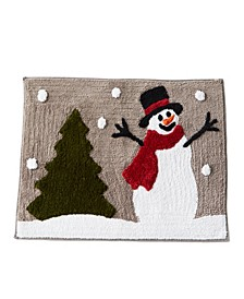 "Snowy Friends 20"" x 30"" Bath Rug"