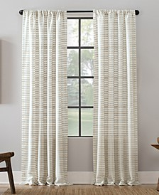 "Modern Check Pattern Anti-Dust Curtain Panel, 52"" x 84"""
