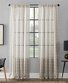 """Twill Stripe Anti-Dust Curtain Panel, 52"""" x 95"""""""