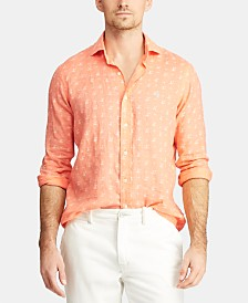 Polo Ralph Lauren Men's Classic Fit Lighthouse Linen Shirt