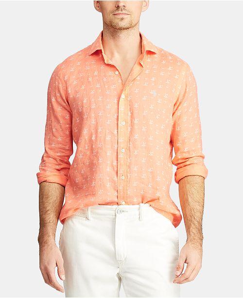 Polo Ralph Lauren Men's Classic Fit Lighthouse Linen Shirt