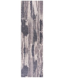 "CLOSEOUT! Retreat Elements 100 Grey 2'2"" x 7'6"" Runner Area Rug"