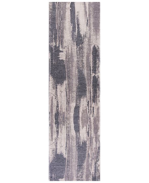 """Kas CLOSEOUT! Retreat Elements 100 Grey 2'2"""" x 7'6"""" Runner Area Rug"""