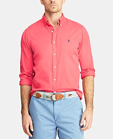 Polo Ralph Lauren Men's Classic Fit Garment-Dyed Twill Shirt