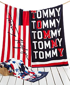 CLOSEOUT! Tommy Hilfiger Cotton Printed Beach Towel Collection