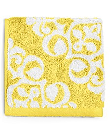 Elite Fashion Medallion Cotton Wash Towel, Created for Macy's