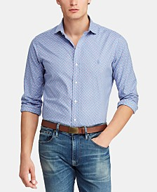 Polo Ralph Lauren Men's Slim Fit Micro-Print  Shirt