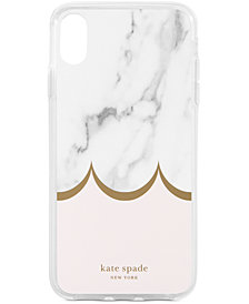 kate spade new york Marble Scallop iPhone XS Case