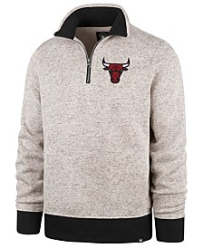 '47 Brand Men's Chicago Bulls Kodiak Quarter-Zip Pullover