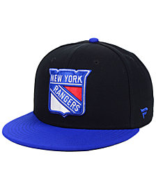 Authentic NHL Headwear New York Rangers Basic Fan Fitted Cap