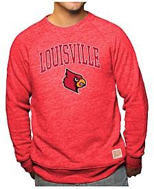 Retro Brand Men's Louisville Cardinals Arch & Logo Crew Sweatshirt