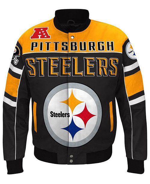 G-III Sports Men s Pittsburgh Steelers Blitz Front Zip Jacket ... 88e801030