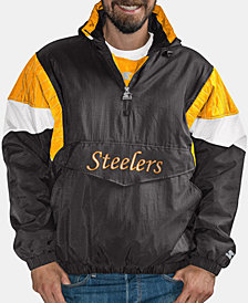 G-III Sports Men's Pittsburgh Steelers Throwback Nylon Front Zip Jacket