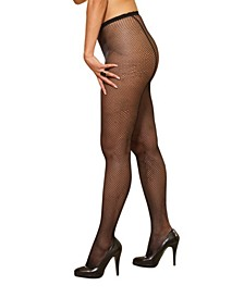Plus Size Fishnet Pantyhose With Back Seam