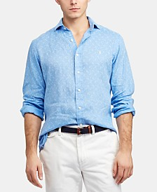 Polo Ralph Lauren Men's Slim Fit Anchor-Print Cotton Shirt