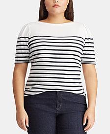 Lauren Ralph Lauren Plus Size Boat Neck Top