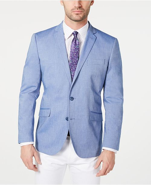 Unlisted Kenneth Cole Men's Slim-Fit Chambray Sport Coat