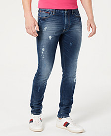 Tommy Hilfiger Men's Skinny-Fit Tapered Jeans, Created for Macy's