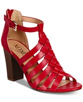 6f56a89aed XOXO Baxter Strappy Block-Heel Sandals