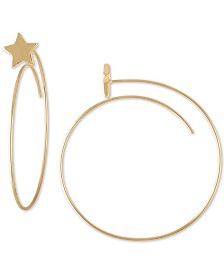 RACHEL Rachel Roy Gold-Tone Star Spear Medium Hoop Earrings