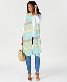 Oversized Striped Cashmere Scarf, Created for Macy's