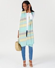 Charter Club Oversized Striped Cashmere Scarf, Created for Macy's