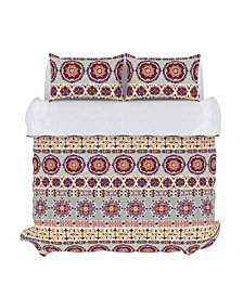Bliss Duvet Cover Set, King, Berry