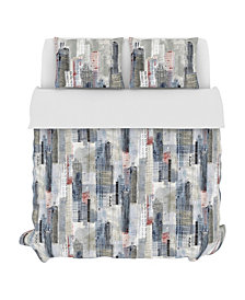 Skyline Duvet Set, Twin, Chrome