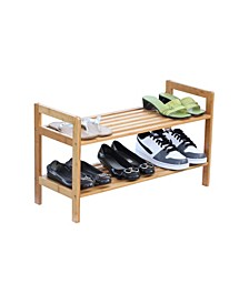 2-Tier Bamboo Shoe Rack
