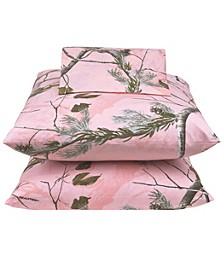 Realtree APC Pink Twin Sheet Set