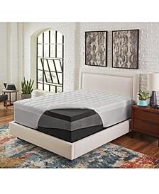 "4.5"" Comfort Loft Ebonite Full Memory Foam with Fiber Topper Cover"