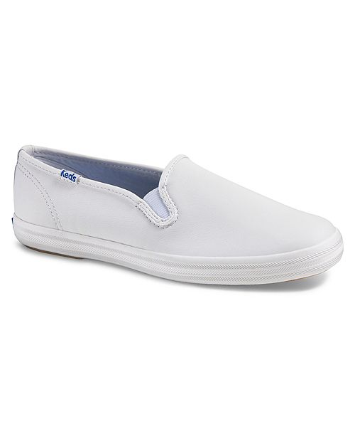 6fb9d576fcf Keds Women s Champion Slip On Leather Sneakers   Reviews - Home - Macy s