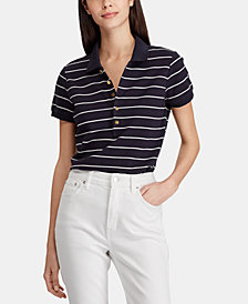 Lauren Ralph Lauren Striped Stretch Polo
