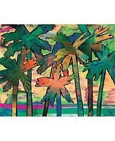 """Psycho Palm Tree in Green 24"""" x 36"""" Metal Wall Art Print"""