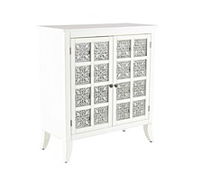 "Modern 36"" x 32"" Rectangular White 2-Door Wooden Cabinet"