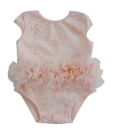 Baby Tutu Bodysuit Peach Flower