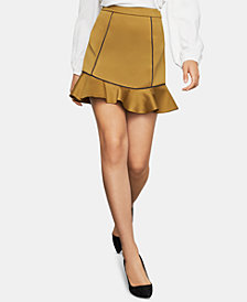 BCBGMAXAZRIA Satin Mini Skirt