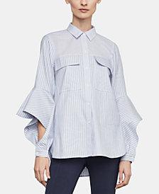 BCBGMAXAZRIA Cotton Cutout-Sleeve Shirt