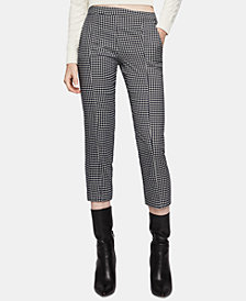 BCBGeneration Cropped Herringbone Pants