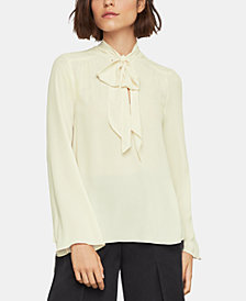 BCBGMAXAZRIA Tie-Neck Top